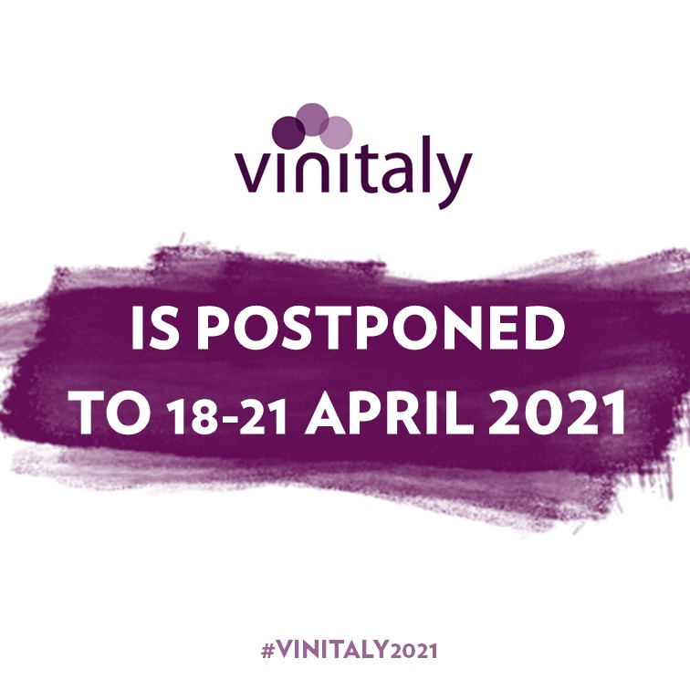 Vinitaly: rinviata al 18-21 Aprile 2021